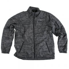 Mens Quiksilver Jutea Printed Jacket Bleeker Smoke