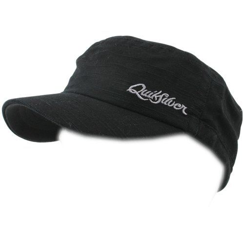 Mens Quiksilver Party Wave Military Cap Black