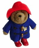 Plush Paddington Bear 28cm with Boots Blue Coat Red Hat