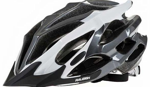 Black and White Extreme Cycle Helmet