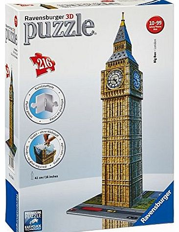 Big Ben Building 3D Puzzle, 216 piece
