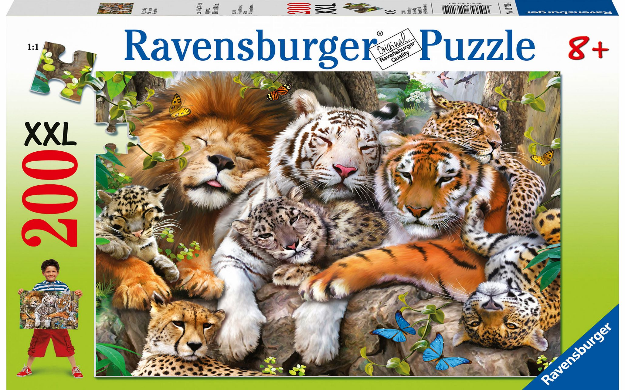 Big Cat Nap 200 Piece Jigsaw Puzzle - XXL