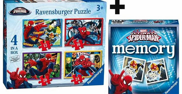 Marvel Spiderman 4 in a box Puzzle