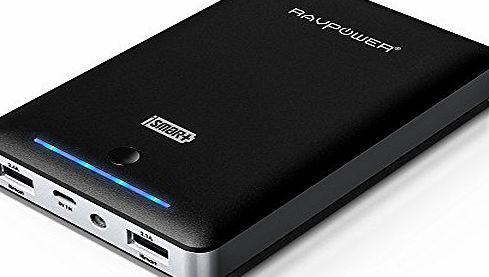 RAVPower 15000mAh Deluxe External Battery Pack (3rd Generation Portable Charger, Power Bank, 4.5A, Dual USB)
