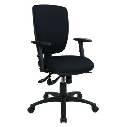 Realspace Petite Posture Office Chair - Black