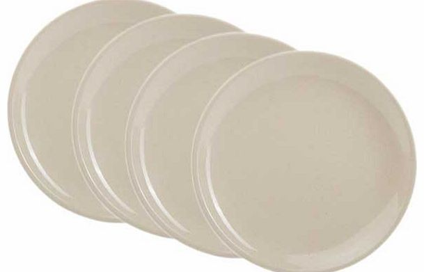 Set of 4 Bamboo Dinner Plates - Natural