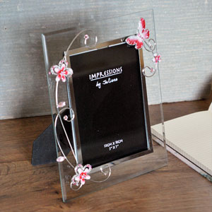 Butterfly and Glass 5 x 7 Photo Frame