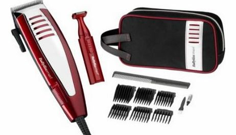 BaByliss for Men Deluxe Hair Clipper Gift Set A Sleek Professional Mains Hair Clipper