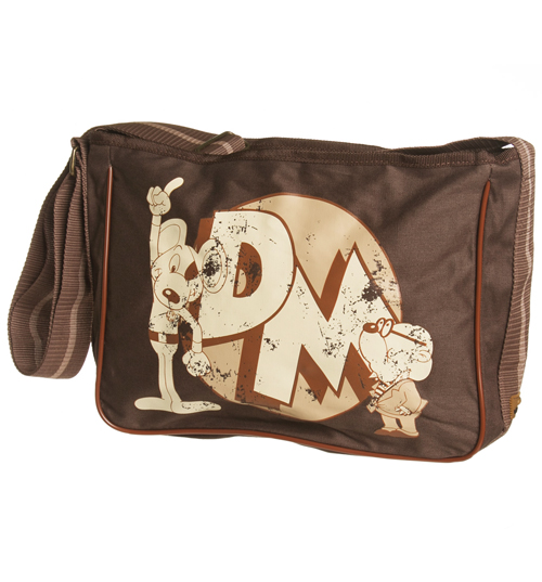 Brown Danger Mouse Canvas Satchel Bag