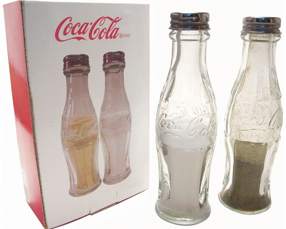 Glass Coca-Cola Bottle Salt And Pepper