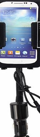 F11B FM Transmitter iphone6 Plus + 3.5mm Audio-in Car Charger Holder with Remote Control for Samsung Galaxy Note 3 S5 III/IV/3/4, Nexus 5/4, HTC One/M8, Blackberry Z10, SONY Phone