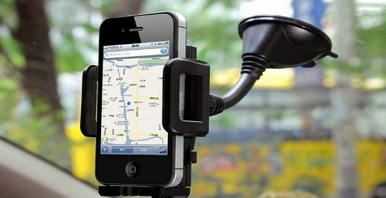Premium Adjustable In Car Holder for Apple Iphone 5 / 4 / 4s / 3G / 3 and Samsung, HTC, Nokia, Blackberry, Nexus
