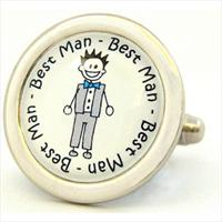 Richard Cammish Best Man Character Cufflinks by