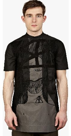 Men™s Black Embroidered T-Shirt