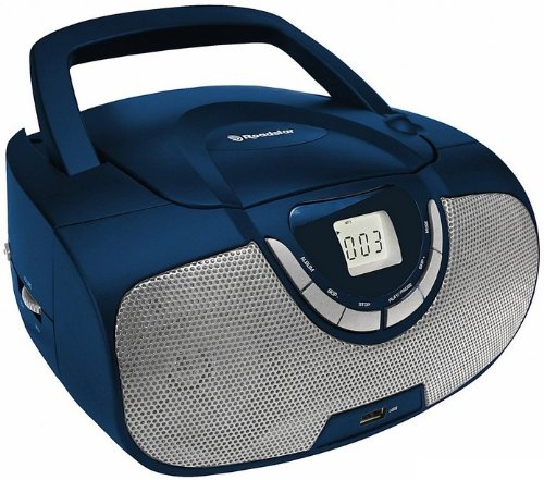 Portable Stereo System with CD/MP3 Player, USB and AM/FM Radio - Blue