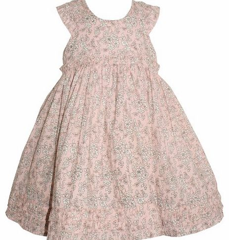 Rock A Bye Baby Girls Champagne Pink Dress with Fixed Underskirt (18-24 Months)