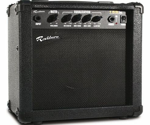 Rockburn 15 Watt Bass Guitar Amplifier