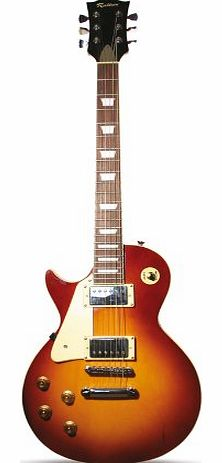 Rockburn LP2-TS-LH-PK LP Style Left Hand Electric Guitar - Tobacco Sunburst