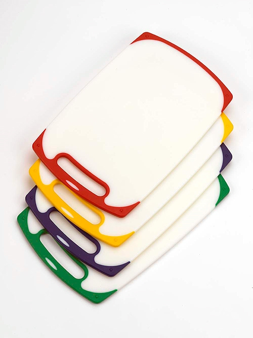 Set of 4 colour coded chopping boards