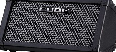 ROLAND CUBE STREET PORTABLE BATTERY OPERATESTEREO Electric guitar amplifiers Battery operated amplifier