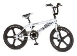 BMX Bike Rooster Big Daddy Silver With Black Mags