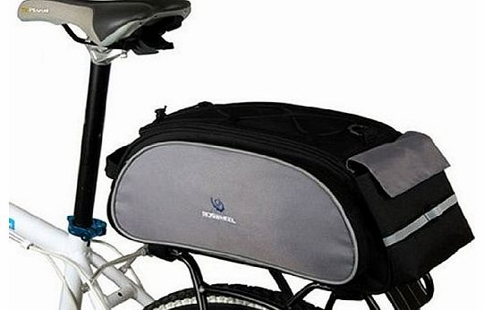 Multi-function Black Cycling Bicycle Bag Bike Rear Seat Carrier Basket Rack Pannier 13L