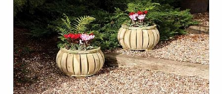 Pack of Two Marberry Ball Planters