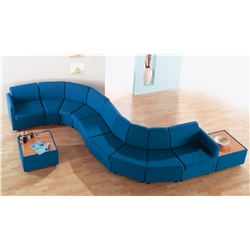 Royal Blue Cabby Modular Reception Seating.