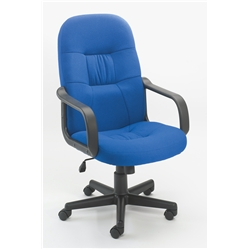 Royal Blue High Back Manager Chair. Adjustable