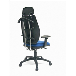 Royal Blue Trader High Back Manager Chair.