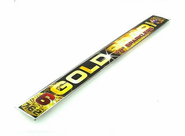 12 X 18`` Inch (450mm) long with (260mm Burn time) BIG HUGE Gold Party Sparklers For Wedding, Birthday & Celebration Cakes SAME DAY DISPATCH FREE DELIVERY OR Come In-Store For Further Discounts On