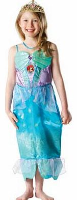 Rubies Glitter Ariel Dress Up Outfit - 3-4 Years