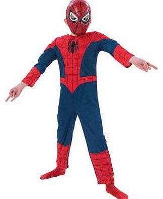 Rubies Ultimate Spiderman Dress Up Outfit - 3-4