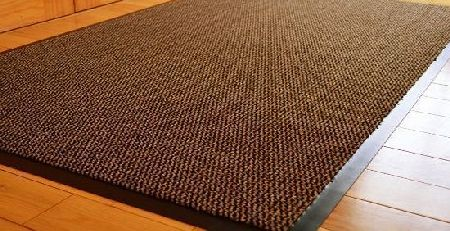 MEDIUM EXTRA LARGE LONG NARROW BROWN / BLACK HEAVY DUTY STRONG NON SLIP HEAVY DUTY RUG BARRIER MAT DOOR OFFICE KITCHEN UTILITY CARPET (60 X 180 CMS)