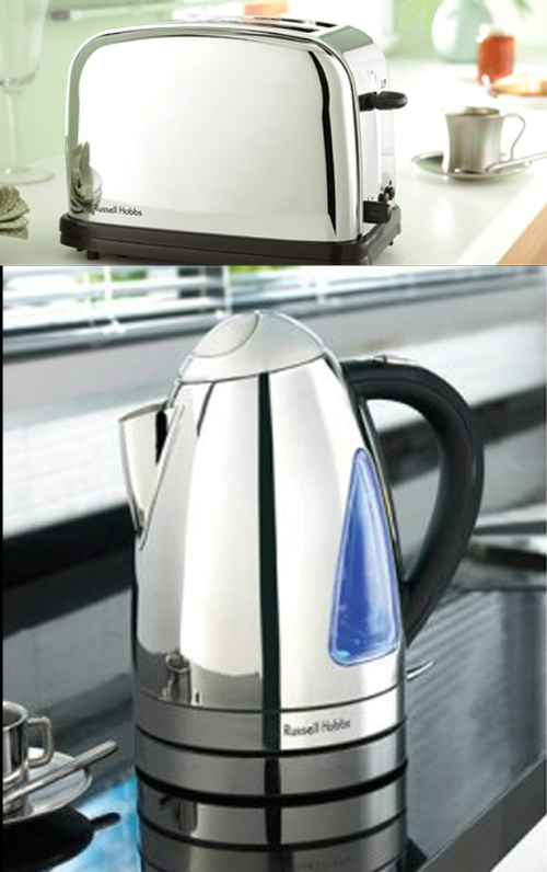 Russell Hobbs Nevada Kettle and Toaster Twin Pack