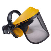 Rga-006 Trimmer Safety Visor With Ear Defenders and Non Slip Gloves