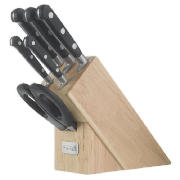 6 Piece Sloping Knife Block With Scissors