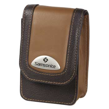 Samsonite Camera Case ~ Makemo BROWN Leather Model 40 - 28076
