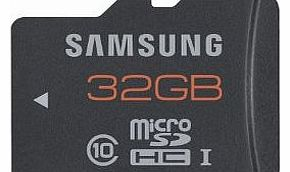32GB Class 10 Grade 1 48MB/s Micro SDHC Plus Memory Card with MicroSD Adapter
