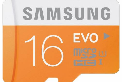 Samsung Memory 16GB Evo MicroSDHC UHS-I Grade 1 Class 10 Memory Card without Adapter