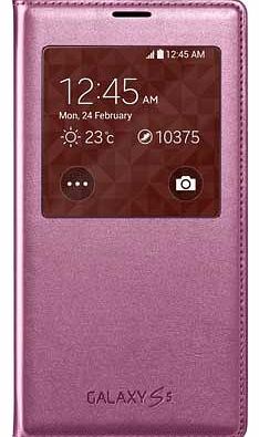 S View Cover for Galaxy S5 - Pink
