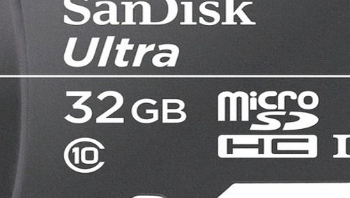 Sandisk 32GB Ultra microSDHC UHS-I class 10 30MB/s