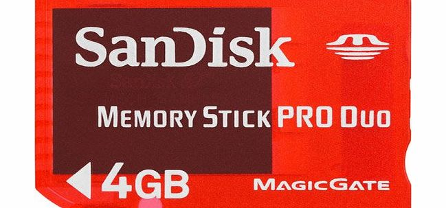 SanDisk 4GB Gaming Memory Stick PRO Duo