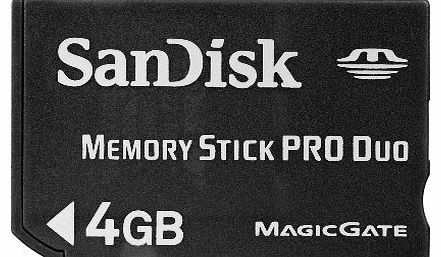 SanDisk 4GB Memory Stick PRO Duo - Traditional Packaging