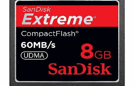 Sandisk 8 GB CompactFlash Extreme Memory Card