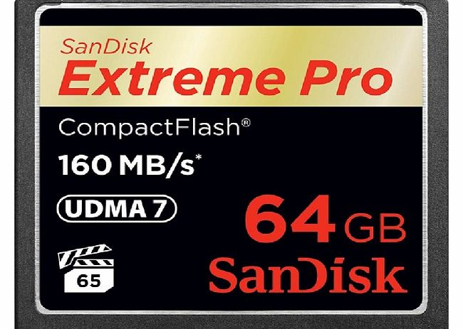 Sandisk CompactFlash Extreme PRO memory card - 64 GB