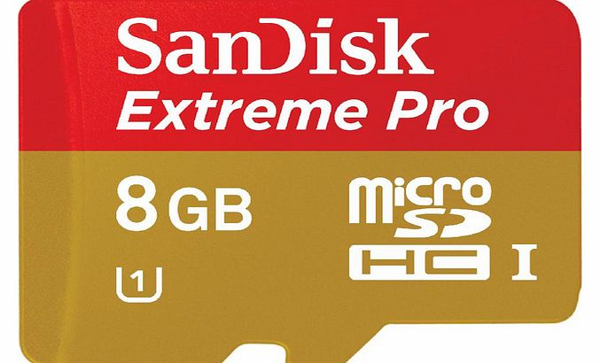 Sandisk Extreme Pro microSDHC memory card - 8 GB - Class