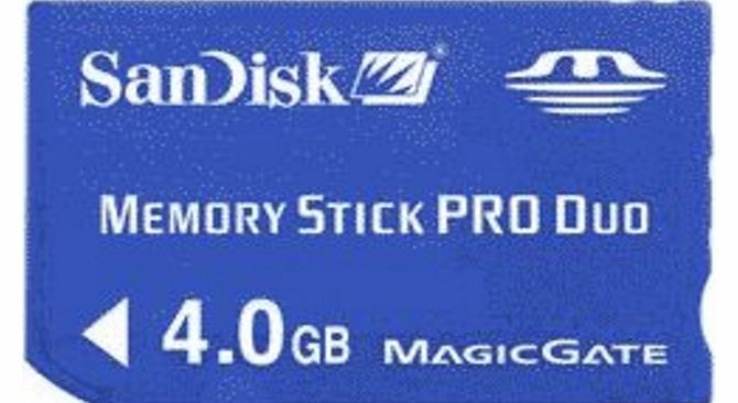 Sandisk Memory Card Stick PRO duo 4Gb