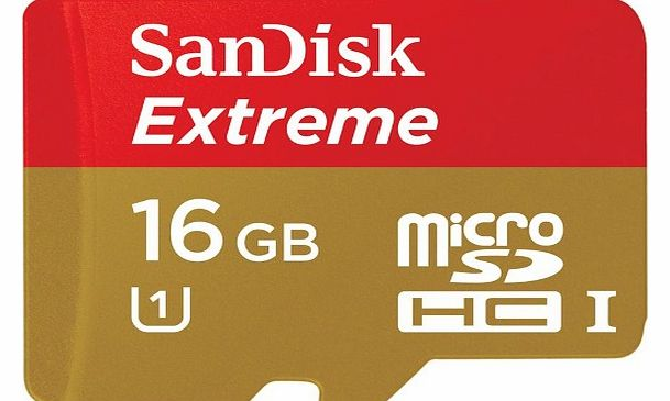 Sandisk microSDHC UHS-I memory card - 16 GB - Class 10