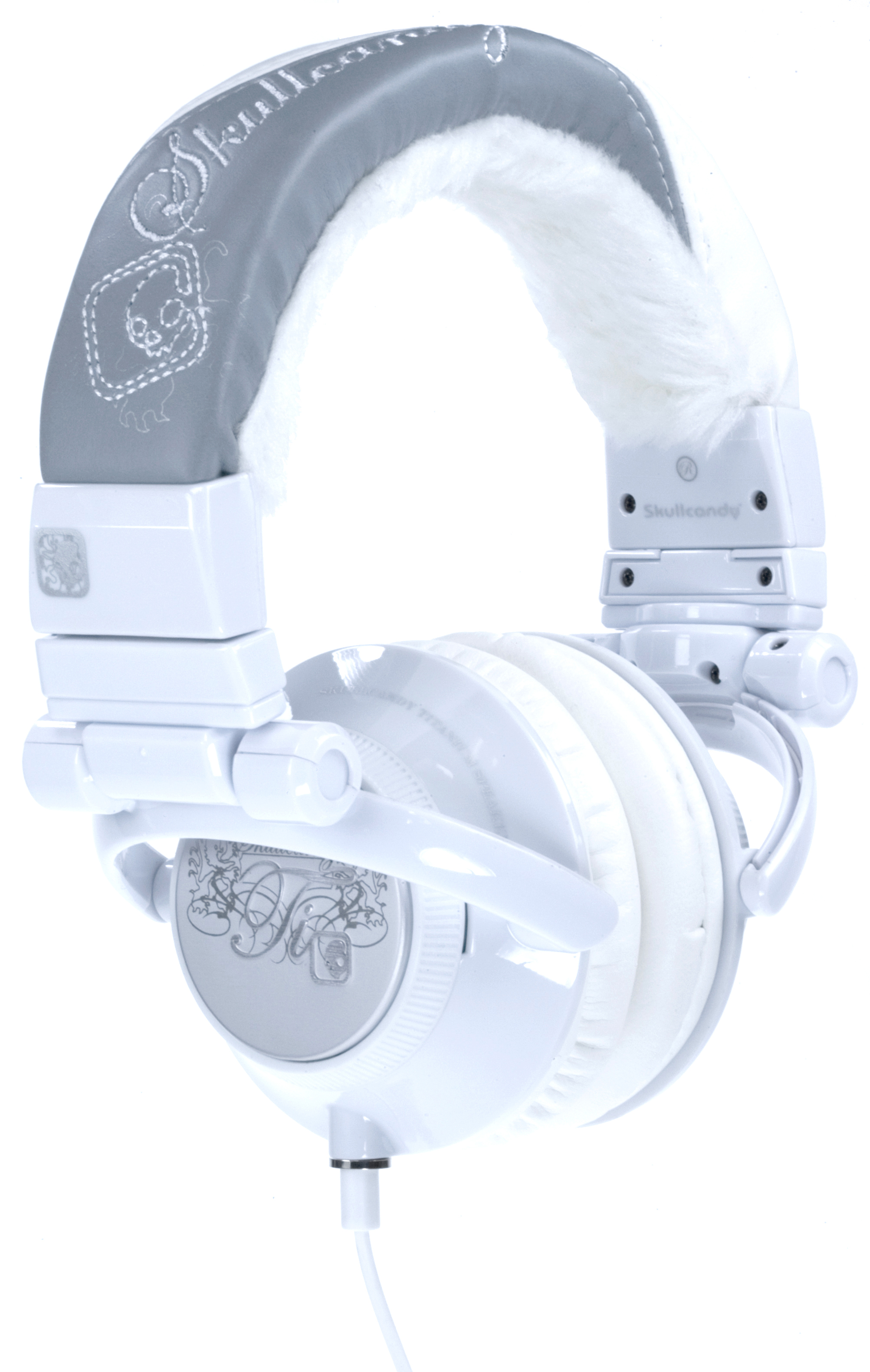SanDisk Skullcandy Ti Headphones - White Fur